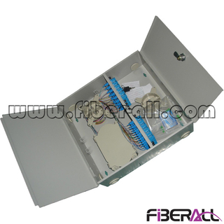 FA-FDWIM24G 24 Fibers Indoor Use Wall Mounted Fiber Optic Patch Box with Two Doors Metal Grey