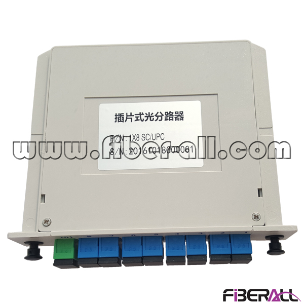 FA-PLCC1×8SP,1x8 Card Type Fiber Optical PLC Splitter in LGX Box with SC Pigtail and Adapter
