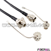 FA-ODC-OPOPS2, 2 Cores Far Transmission Optical Patch Cord, ODC Fiber Optic Jumper with Waterproof Plug