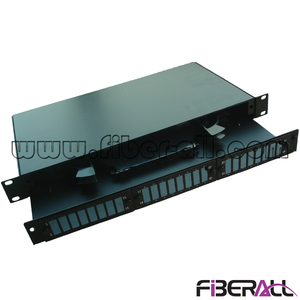 FA-FDR1MD48B-SCN 1U SC Duplex Fiber Optical Patch Panel 24 Ports Rack Mounted Fiber Terminal Box Drawer Type