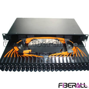 FA-FDR1MD24J 48 Fibers Sliding Type Fiber Patch Panel with 24 MTRJ Optical Adapter and Pigtail