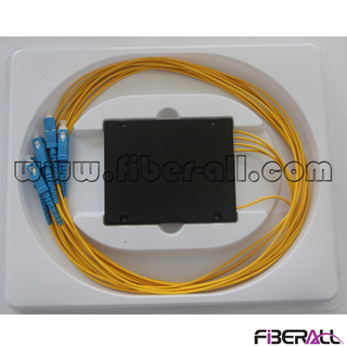 FA-PLCA1×4SU,1x4 Fiber Optical PLC Splitter ABS Box with SC/PC Input Output Pigtail
