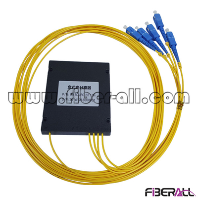FA-PLCA1×4SP, ABS Type Fiber PLC Splitter 1x4 with SC/UPC Pigtail and Connector