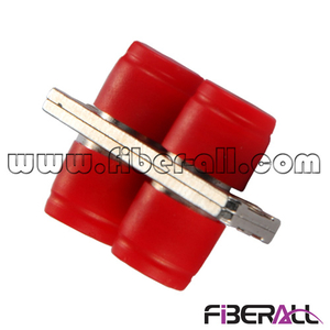 FA-AD-FP2SM, Duplex FC Fiber Optic Adapter, Metal, Red Dust Cap