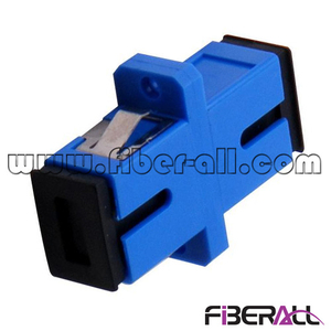 FA-AD-SP1SP, Single Mode SC Fiber Optic Adapter with Black Dust Cap, Simplex, Plastic, Blue