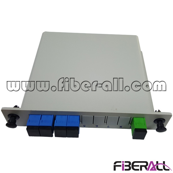 FA-PLCC1×4SU,LGX Card Type 1x4 Fiber Optic PLC Splitter with SC Connector and Adapter for FTTX FTTZ FTTB