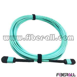 FA-BPC-MPMPM12 MPO-MPO Fiber Optic Patch Cord 12 Cores MM OM3 50/125um Aqua