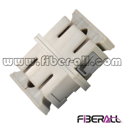 FA-AD-SP2MPC Multimode Duplex SC Fiber Optical Adapter with Mushroom Dust Cap, Plastic, Beige