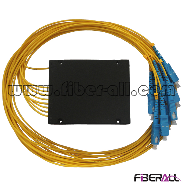 FA-PLCA1×8SP, 1x8 PLC Fiber Splitter with ABS Box, SC Optic Pigtail and Connector, Can Be Equipped with Distribution Box