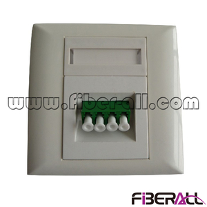 FA-FXFP0201, FTTH Faceplate Wall Mounted Socket with One SC duplex or LC Quadplex Fiber Port