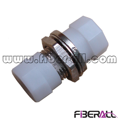 FA-AD-FP1SM-SD, Small D-type FC Fiber Optic Adapter, SM, Simplex, Metal, with White Cap