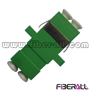 FA-AD-LA2SP-S, LC/APC Fiber Optical Adapter with SC Footprint, SM, Duplex, Plastic, Green