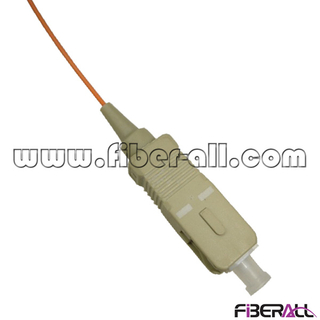 FAPG-SPM01, Multimode Indoor Optical Fiber Pigtail, SC/PC, Simplex, 0.9mm, Orange