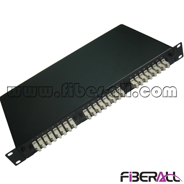 FA-FDR1MD48B Sliding Drawer Type Rack Mounted Fiber Optic Patch Panel with 48 Fibers LC Duplex Port