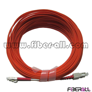 FAPC-LPSPM2 LC-SC Duplex Fiber Optic Jumper Multimode Patch Cord with Orange Sheath