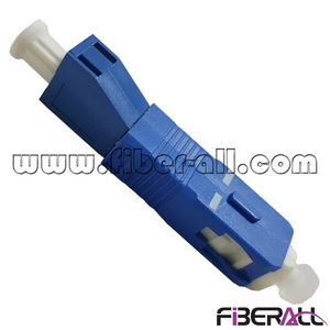 FA-AD-SPMLPF,Optical Fiber Hybrid Adapter SC/PC Male To LC/PC Female Plastic Blue