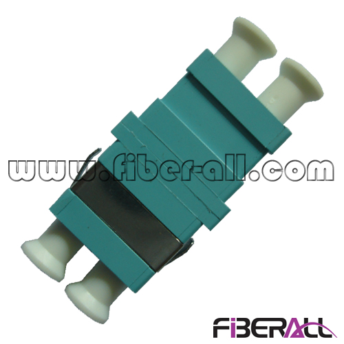 FA-AD-LP2OP-S LC Duplex Aqua Fiber Optic Adapter For OM3 MM Patch Cord And Pigtail with Flange