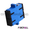 FA-AD-SP2SP, Single Mode SC Fiber Optic Adapter with Flange, Duplex, Plastic, Blue