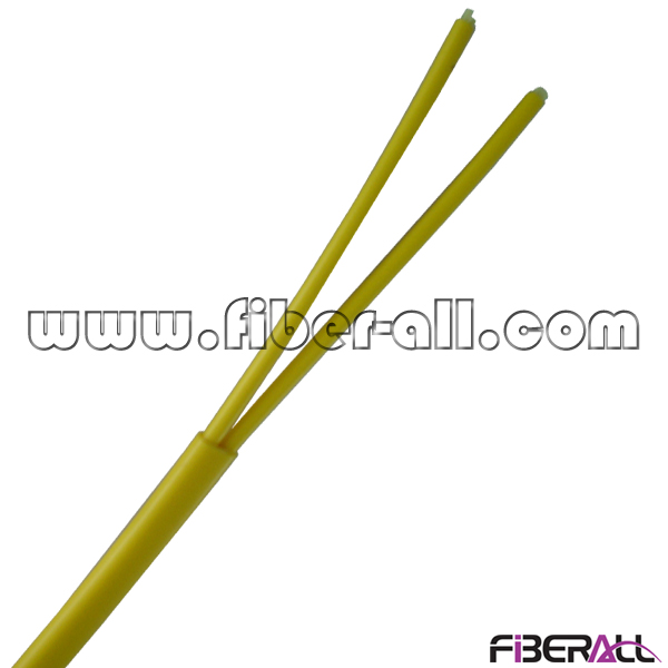 FA-IOC-GJFHBY02 2 Fibers Ruggedized Flat Twin Duplex Indoor Fiber Optic Cable For Indoor Optical Distribution