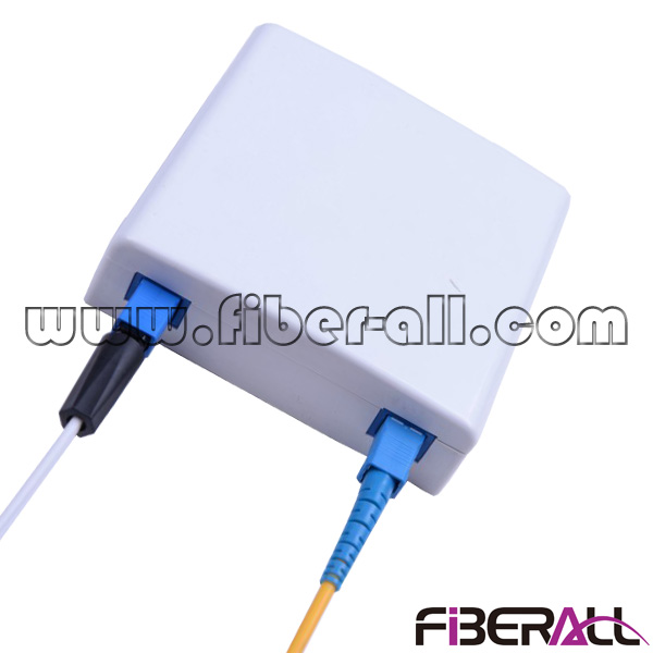 FA-FXFP0102, Wall Mounted Socket FTTH Faceplate with Two SC FC LC Fiber Ports