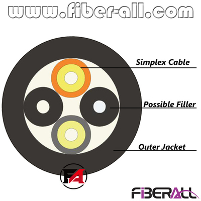 FA-OC-FT0102, 2 Fibers Outdoor Far Transmission Fiber Optic Cable for Base Station