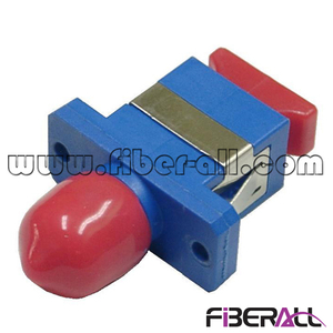 FA-AD-SP1TP-P Plastic SC-ST Hybrid Fiber Optic Adapter Simplex with Red Dust Cap