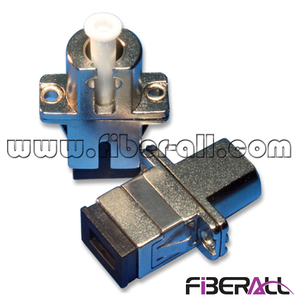FA-AD-SP1LP-M Metal Hybrid Fiber Optic Adapter SC-LC Simplex with Flange