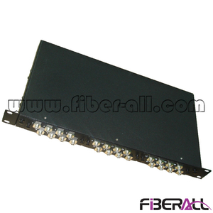 "FA-FDR1MD24B-FC 1U 19"" Rack Mounted Optical Distribution Box, Fiber Optic Patch Panel with 24 FC Adapter"
