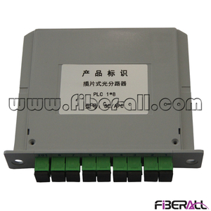 FA-PLCC1×8SA,1x8 LGX Module PLC Splitter with SC/APC Fiber Optic Connector and Adapter for Radio and Television